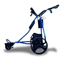 New 2 in 1 Deluxe Electric Aluminum Motorized Golf Trolley Carts Caddy Blue