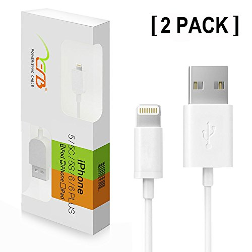 [Apple MFI Certified] [2-Pack] Aerb Lightning To USB Cable 3ft / 1m 8 Pin Sync & Charge USB Cable Cord For Apple...