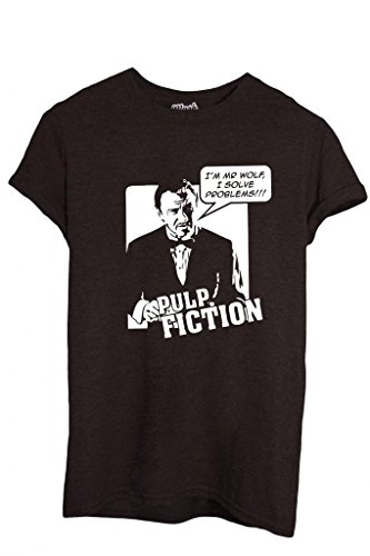 T-SHIRT MR WOLF I SOLVE PROBLEMS PULP FICTION-FILM by MUSH Dress Your Style - Uomo-XL