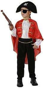 Atosa - Disfraz de capitán pirata para niño, talla 10 - 12 años (95709)