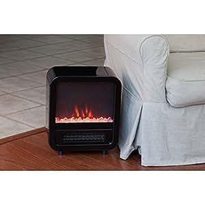 Black Skyline Electric Fireplace Stove Space Heater Rtm254681