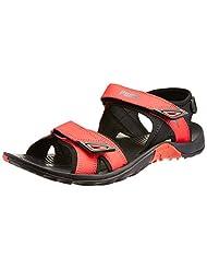 Puma Men's Vesta Sdl Dp Black And High Risk Red Sandals And Floaters - 8 UK