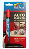 RED AUTO MARKER - NON PERMANENT WRITING ON BODY PANELS AND WINDSCREENS