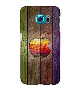 printtech Wooden Apple Back Case Cover for Samsung Galaxy S6::Samsung Galaxy S6 G920