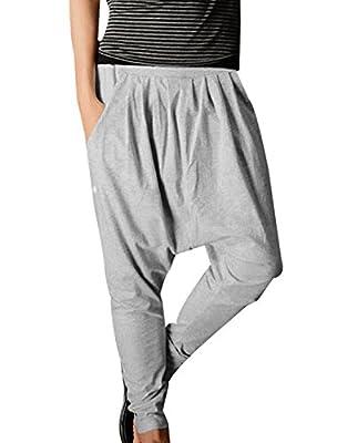 Allegra K Men Casual Pocket Front Tapered Leg Baggy Harem Pants