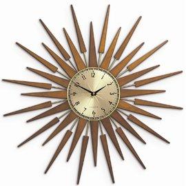 Pluto Starburst Clock Gold