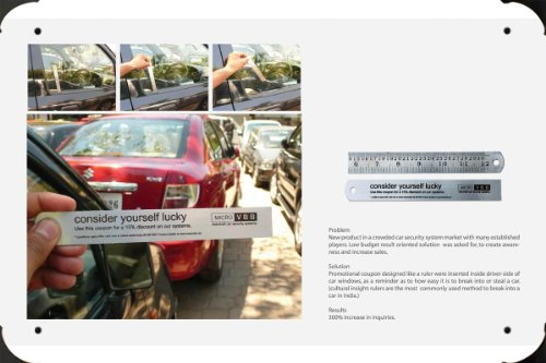 Metal Poster Tin Plate Sign of Car Security Systems: Ruler 20*30cm