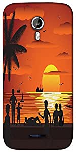 Snoogg beach Designer Protective Back Case Cover For Micromax A117
