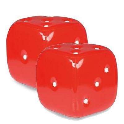 Gepolsterter Hocker Sitzwürfel 30x30x30cm - Rot/Weiss von Home Style auf Gartenmöbel von Du und Dein Garten
