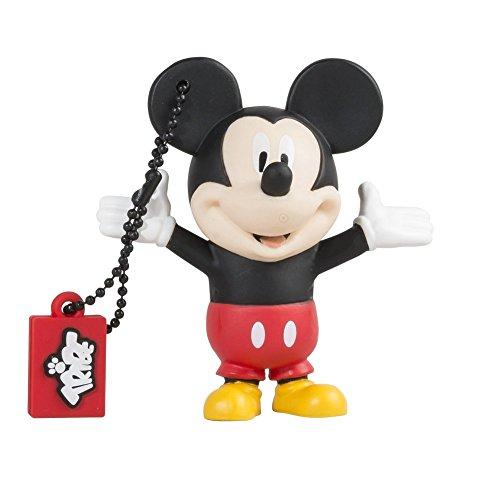 Tribe FD019401 Disney Pendrive 8 GB Simpatiche Chiavette USB Flash Drive 2.0 Memory Stick Archiviazione Dati, Portachiavi, Mickey Mouse (Topolino), Nero