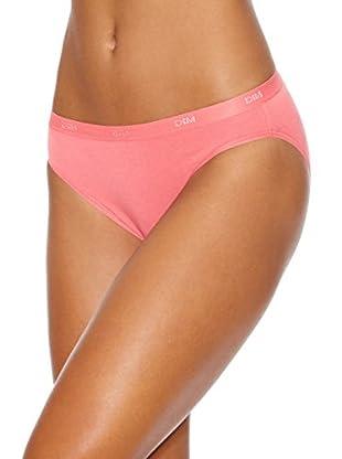DIM Pack x 3 Braguitas Les Pockets Coton Slips (Coral / Rosa)