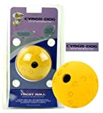 CYBER-DOG Cyber Treat Ball Small Yellow (Out of this world fun!Cyber-Dog rubber Treat Ball is bouncy, flexible durable with a weighted base, so that the ball lands with the treat ready to eat! Just insert your dogs treat before play! Relieves stress, enc