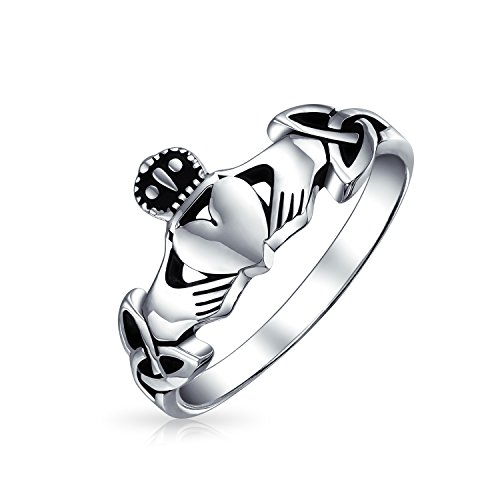 Bling Jewelry Celtica irlandese Sterling Silver Claddagh Ring