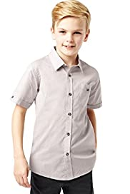 Autograph Pure Cotton Short Sleeve Spotted Shirt