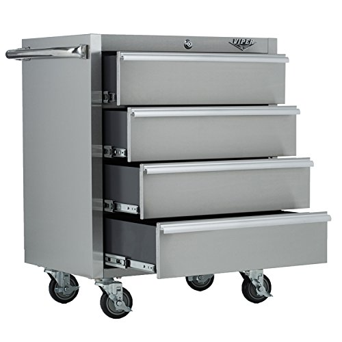 Stainless Steel Kitchen Cabinets Price: 5#L1Web Cheap Price Viper Tool Storage V2604SS 26-Inch 4
