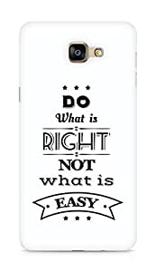Amez Do what is Right Not what is Easy Back Cover For Samsung Galaxy A9