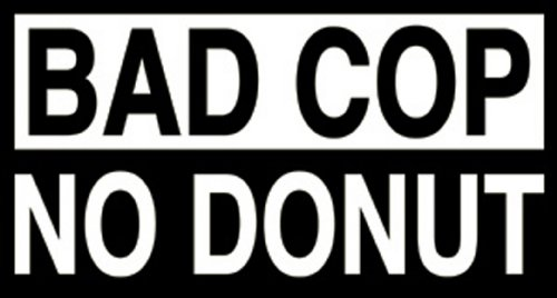Licenses Products Bad Cop No Donut Sticker