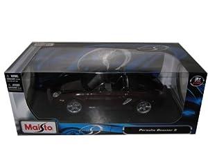 Porsche Boxster S Maroon Diecast Model Car 1:18