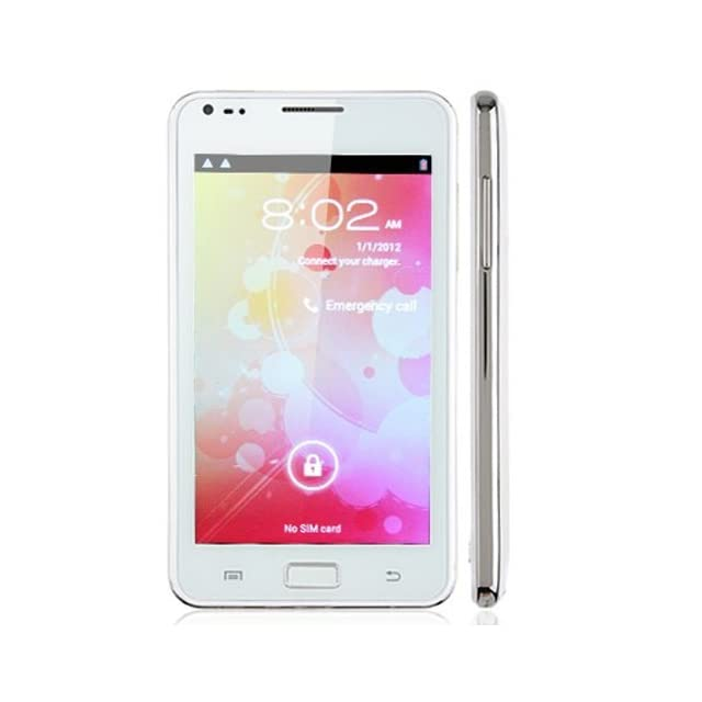 New 5.08Unlock Android N9000 Smart cell phone 4.0 MTK6575 Dual Sim Color White