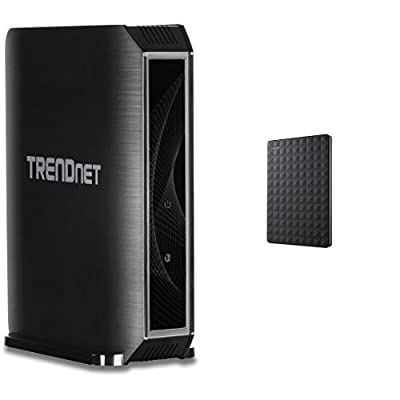 TRENDnet TEW-824DRU AC1750 Dual Band Wireless AC Gigabit Router, 2.4GHz 450Mbps+5Ghz 1300Mbps, 2 USB Port, IPv6, Guest Network, Compatible with DD-WRT
