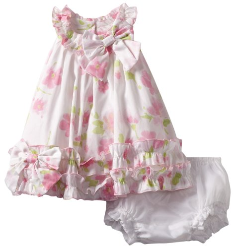 Biscotti Baby-Girls Newborn Watercolors Dress, Pink, 0-9 Months  Review