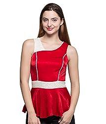 Tryfa Women's Tunic (TFTPPS0000120-M-XL_Red_X-Large)
