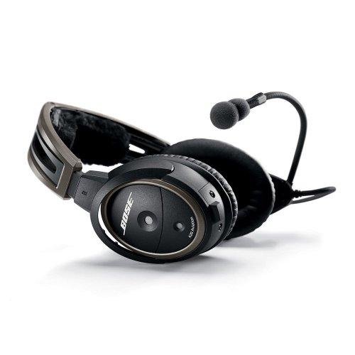 Bose A20 Aviation Headset (Battery-Powered, No Bluetooth, Dynamic Mic, Straight Cord, U174 Plug)