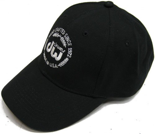 Dw Drum Workshop Unstructured Hat, Black, With Velcro Closure And Embroidered Dw Logo