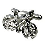 Bicycle Cufflinks + Black Pouch