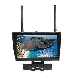 IMONIC Original Boscam Galaxy D2 7 TFT FPV Screen 5.8GHz LCD Monitor Dual Receiver for RC Quadcopter FPV
