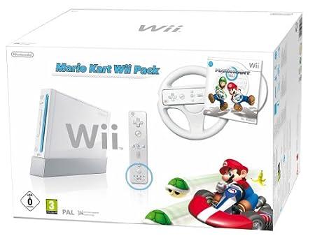 Console Wii Blanche + Jeu Mario Kart Wii [Importación francesa]