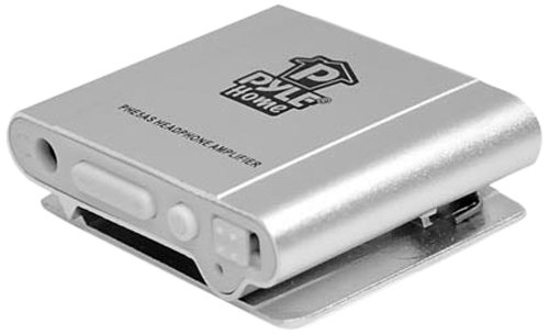 Pyle Home Phe5As Bass Boost Portable Headphone Amplifier, Silver