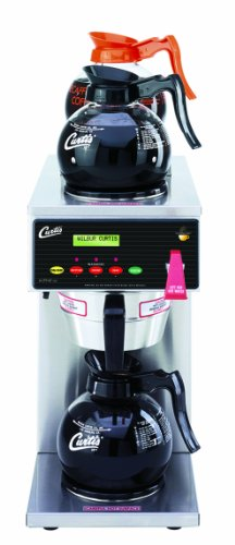 Wilbur Curtis G3 Alpha Decanter Brewer 64 Oz Coffee Brewer, Dual Voltage, 3 Station, 1 Lower, 2 Upper Warmers - Commercial Coffee Brewer  - ALP3GT63A000 (Each)