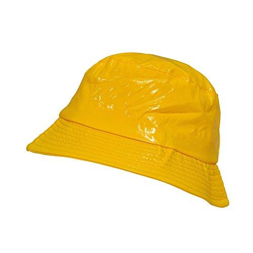 Toutacoo, Waterproof Wax Style Bucket Rain Hat 03-Yellow (Bucket Hat Rain compare prices)