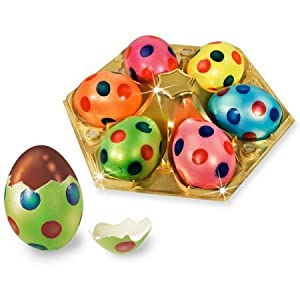 6 Polka Dot Gourmet Chocolate Easter Eggs In