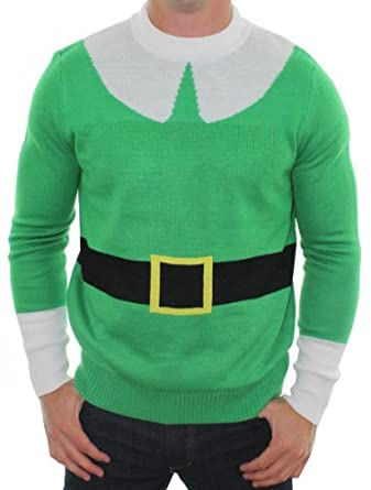 Ugly Christmas Sweater - Elf Me Sweater by Tipsy Elves (XL)