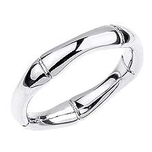 buy High Polish 10K White Gold Bamboo Style Wedding Ring (Size 15)