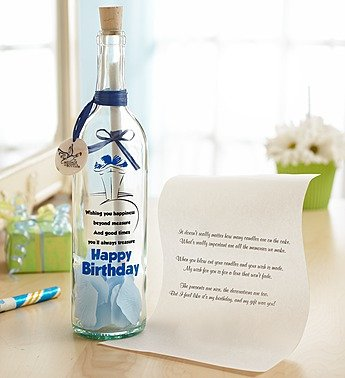 1-800-Flowers - Personalized Message In A Bottle Birthday Wishes - Wishing... front-384404