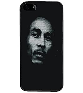 PrintDhaba Serious Face D-5413 Back Case Cover for APPLE IPHONE 4S (Multi-Coloured)