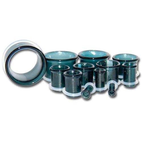 Single Flare Unobtanium Borsillicate Glass Plugs -7/8