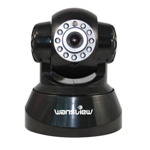 wansview WiFi Lan/WLan zwei-Wege Audio Pan Tilt IP Kamera MAC / Windows / Linux kompatibel Nachtsicht, Alarm Ausgang, Alarm per Email, FTP, Zugriff über das Internet