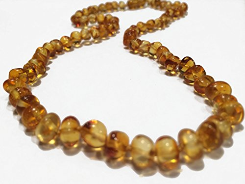 Baltic Essentials 12.5 inch Baltic Amber Allergy Asthma Teething Necklace Babies Honey Baby Infant Toddler Fever Drooling Allergies Pain Certified Authentic - 1