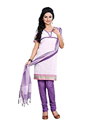 Touch Trends Violet Embroidered Dress Material
