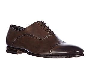 Santoni men's classic leather lace up laced formal shoes oxford vintage brown US size 8.5 MCRD12102LA1NGTQT61