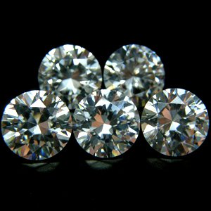 Round 8mm AA Cubic Zirconia White CZ Stone Lot of 100 Pieces