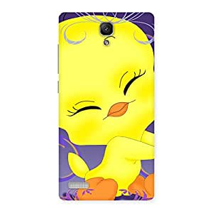 Gorgeous Yellow Tweet Back Case Cover for Redmi Note Prime