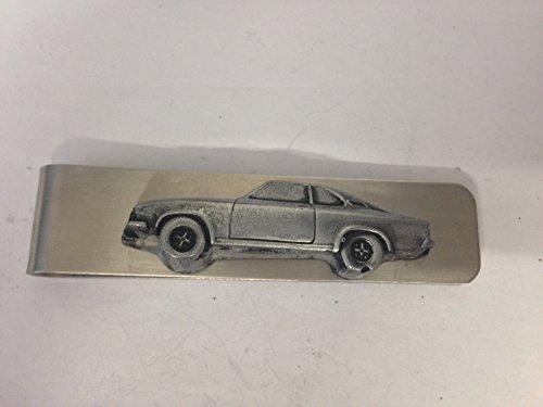 Edelstahl Geldklammer/Geldscheinklammer + a Opel Manta 3D emblem ref173, Zinn-Optik