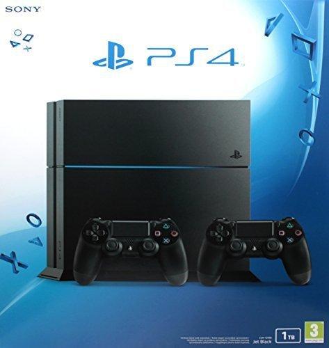 Sony Playstation 4 / PS4 - 1TB + 2 DualShock Controller (schwarz/CUH-1216B)