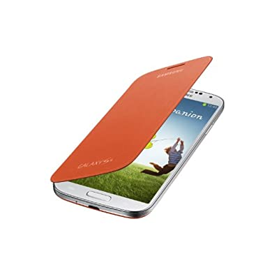 Samsung Galaxy S4 Flip Cover Folio Case - Orange