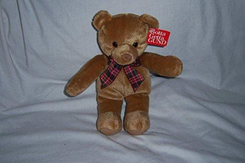 GOTTA GETTA GUND PLUSH STUFFED BROWN TEDDY BEAR BO…